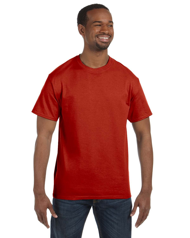Hanes Men's Authentic-T T-Shirt DEEP RED