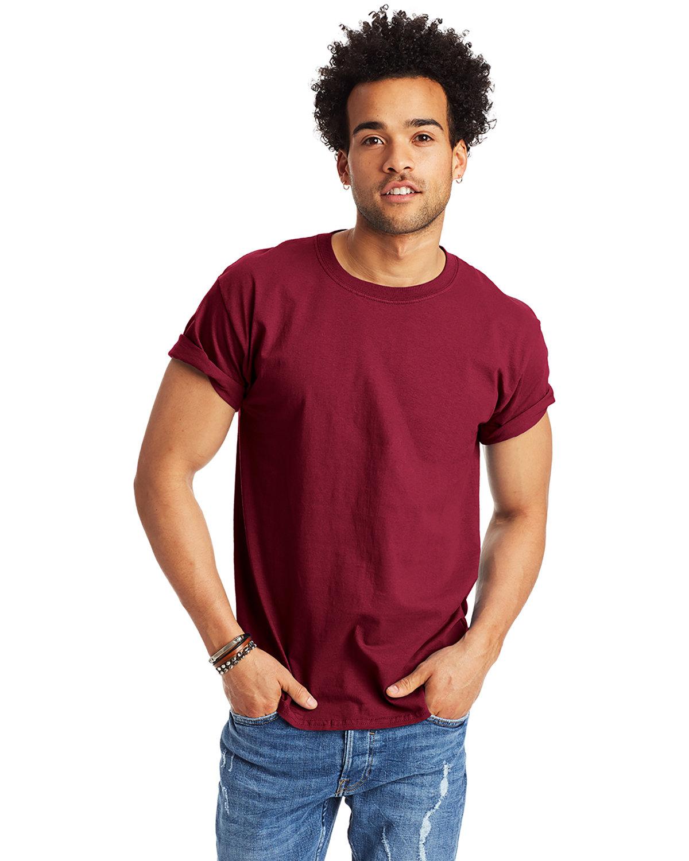 Hanes Men's Authentic-T T-Shirt CARDINAL