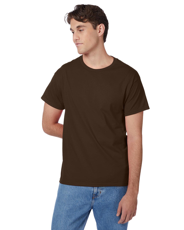 Hanes Men's Authentic-T T-Shirt DARK CHOCOLATE