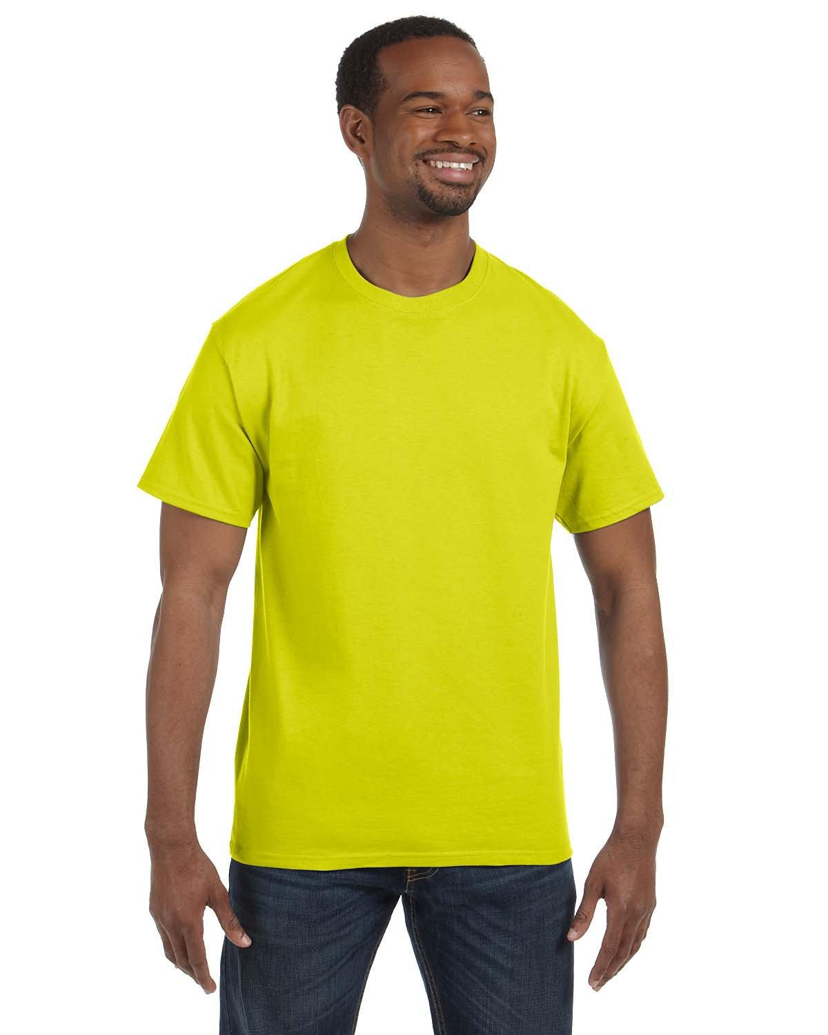 Hanes Men's Authentic-T T-Shirt SAFETY GREEN