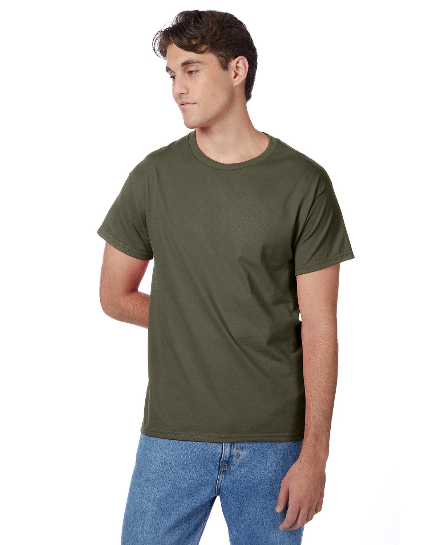 Hanes Men's Authentic-T T-Shirt FATIGUE GREEN