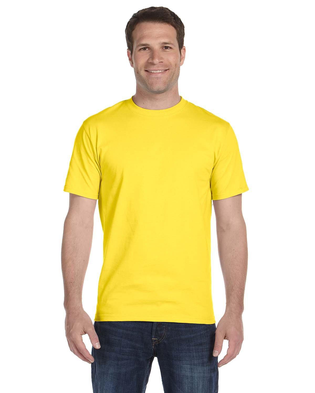 Hanes Unisex Comfortsoft® Cotton T-Shirt YELLOW