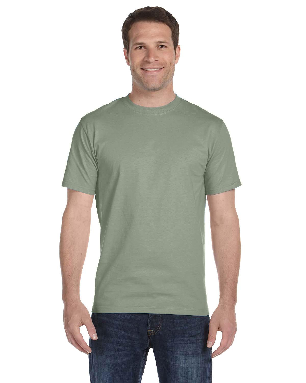Hanes Unisex Comfortsoft® Cotton T-Shirt STONEWASH GREEN