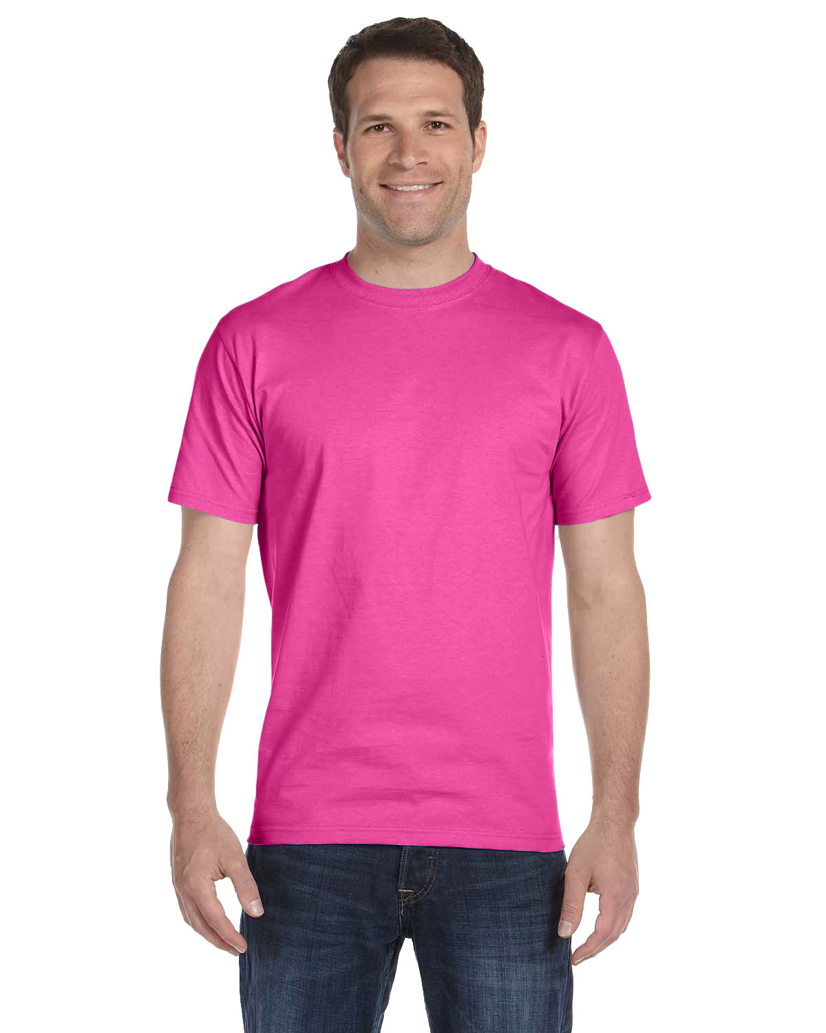 Hanes Unisex Comfortsoft® Cotton T-Shirt WOW PINK