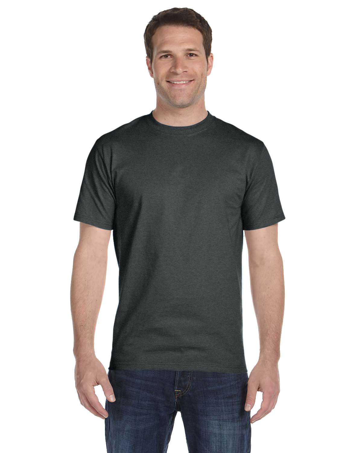 Hanes Unisex Comfortsoft® Cotton T-Shirt CHARCOAL HEATHER
