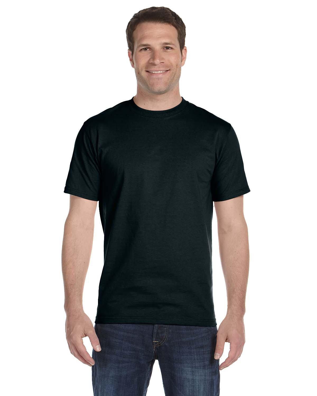 Hanes Unisex Comfortsoft® Cotton T-Shirt BLACK