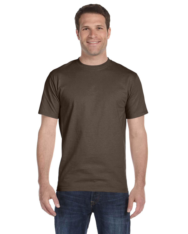 Hanes Unisex Comfortsoft® Cotton T-Shirt DARK CHOCOLATE