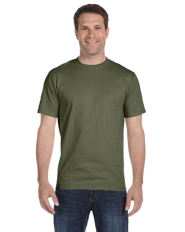 Hanes Unisex Comfortsoft® Cotton T-Shirt FATIGUE GREEN
