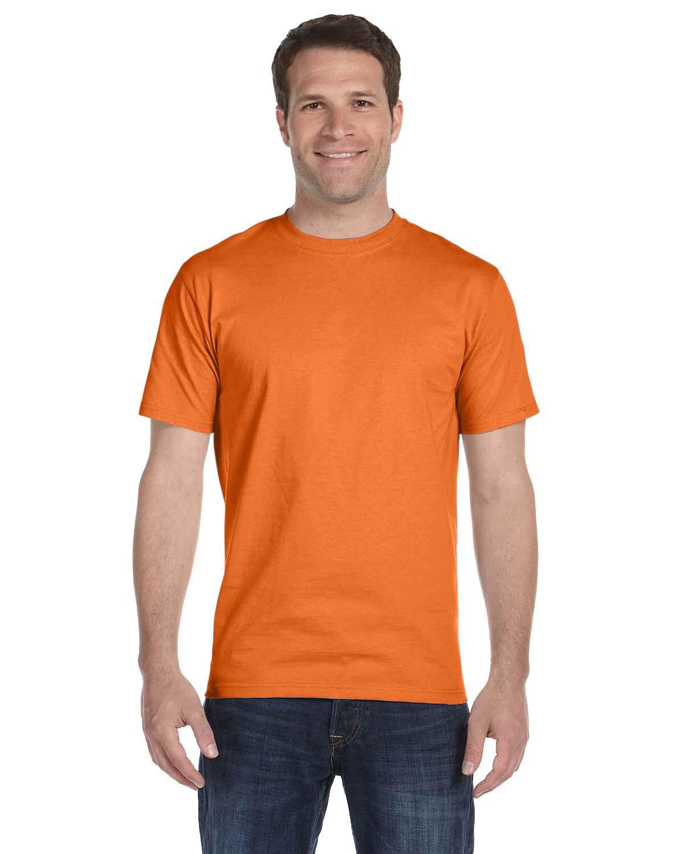Hanes Unisex Comfortsoft® Cotton T-Shirt SAFETY ORANGE