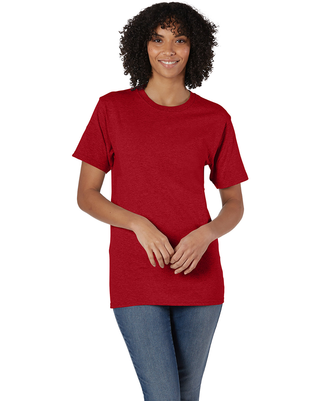Hanes Unisex Comfortsoft® Cotton T-Shirt RED PEPPER HTHR