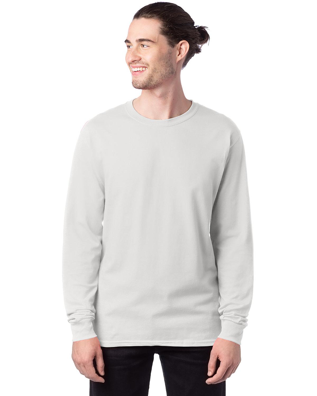 Hanes Men's ComfortSoft® Cotton Long-Sleeve T-Shirt WHITE