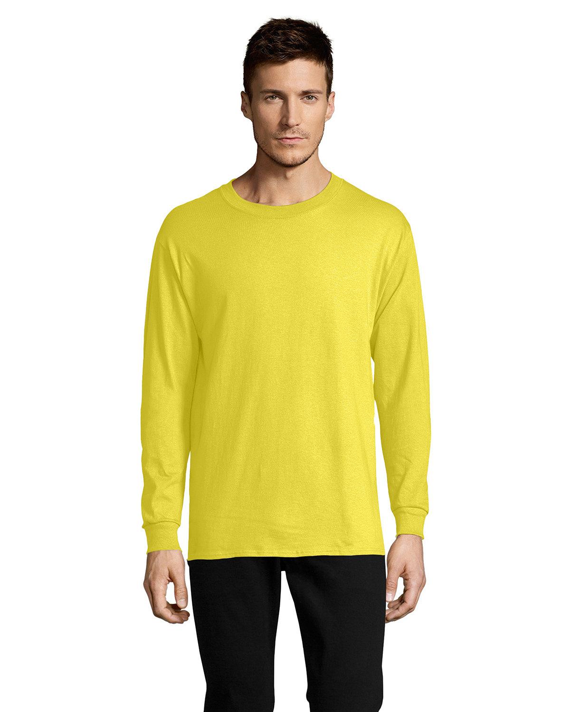 Hanes Men's ComfortSoft® Cotton Long-Sleeve T-Shirt YELLOW