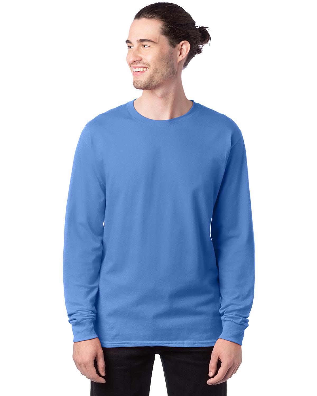 Hanes Men's ComfortSoft® Cotton Long-Sleeve T-Shirt CAROLINA BLUE