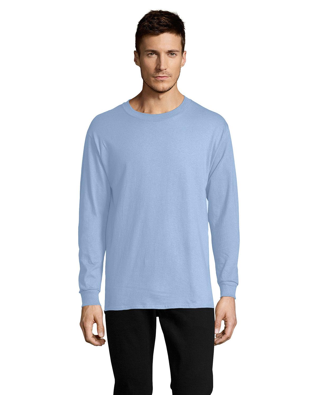 Hanes Men's ComfortSoft® Cotton Long-Sleeve T-Shirt LIGHT BLUE