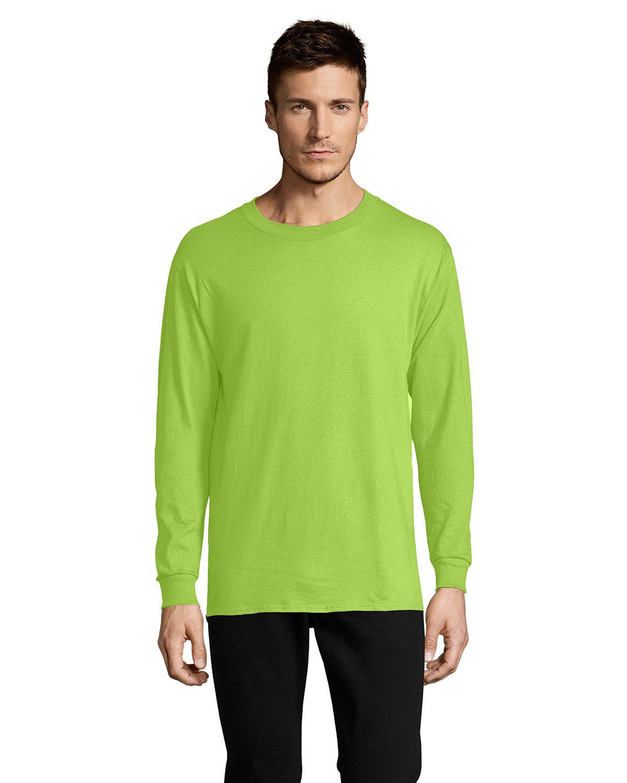 Hanes Men's ComfortSoft® Cotton Long-Sleeve T-Shirt LIME