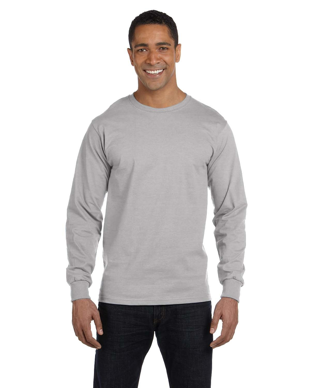 Hanes Men's ComfortSoft® Cotton Long-Sleeve T-Shirt LIGHT STEEL