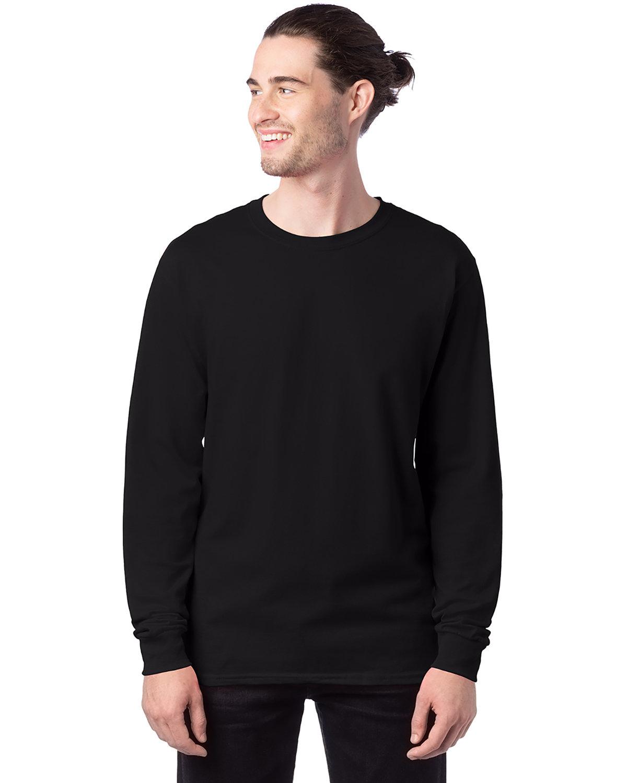 Hanes Men's ComfortSoft® Cotton Long-Sleeve T-Shirt BLACK