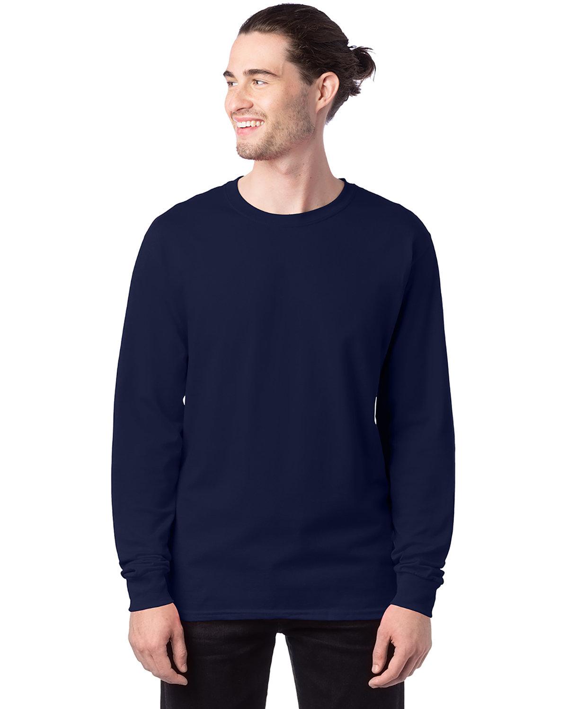 Hanes Men's ComfortSoft® Cotton Long-Sleeve T-Shirt NAVY