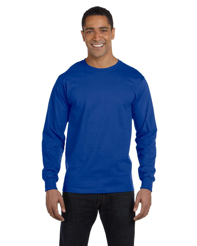 Hanes Men's ComfortSoft® Cotton Long-Sleeve T-Shirt DEEP ROYAL