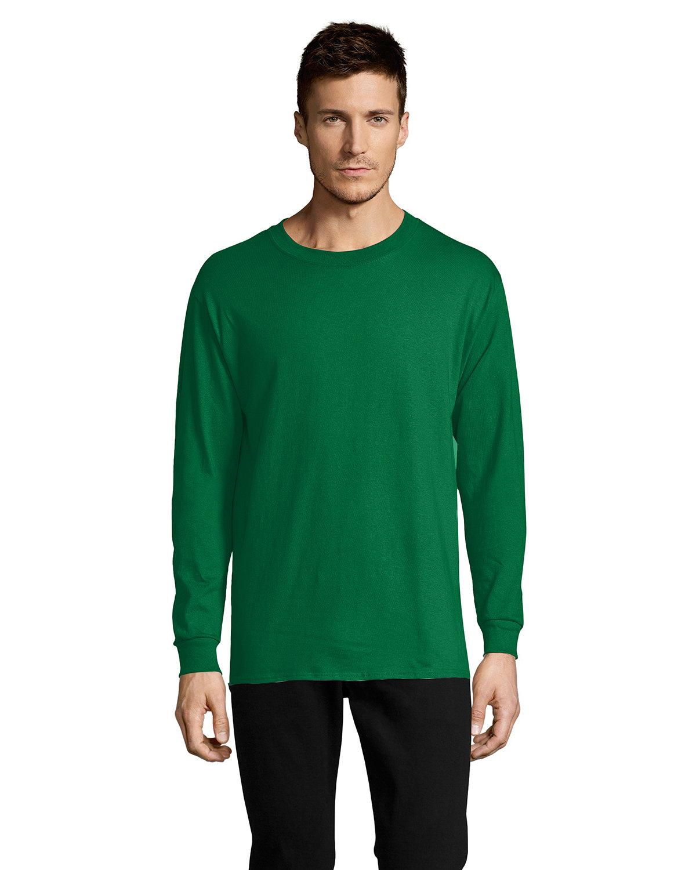 Hanes Men's ComfortSoft® Cotton Long-Sleeve T-Shirt KELLY GREEN