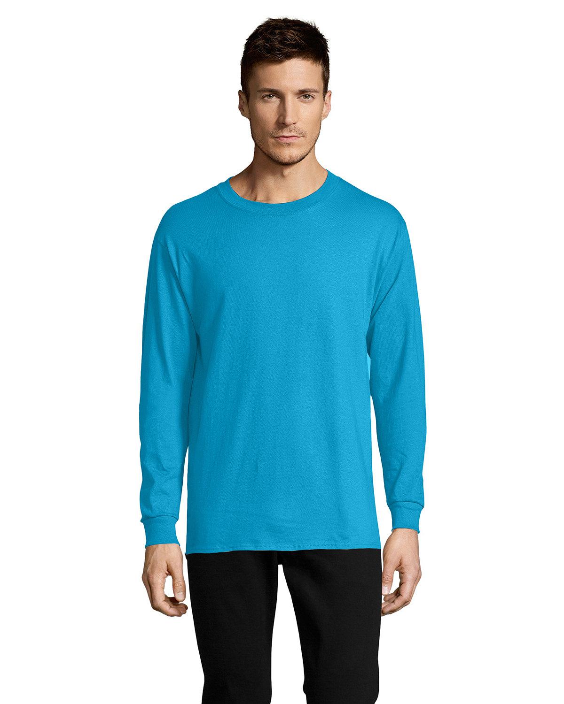 Hanes Men's ComfortSoft® Cotton Long-Sleeve T-Shirt TEAL