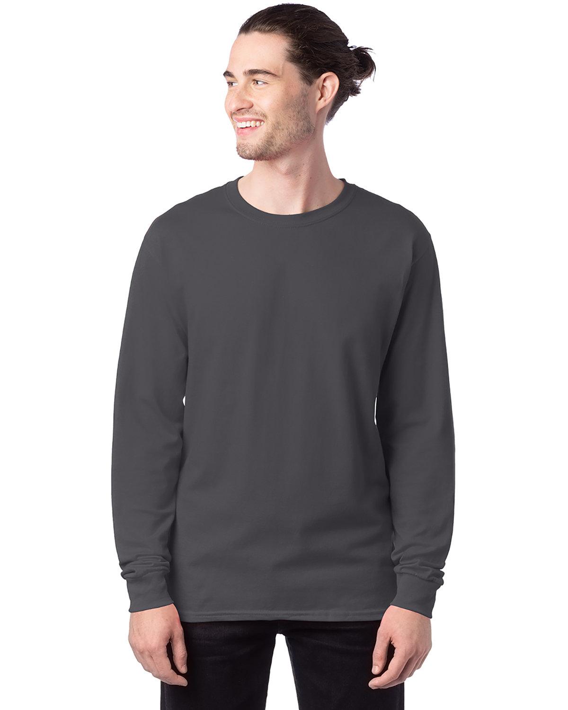 Hanes Men's ComfortSoft® Cotton Long-Sleeve T-Shirt SMOKE GRAY