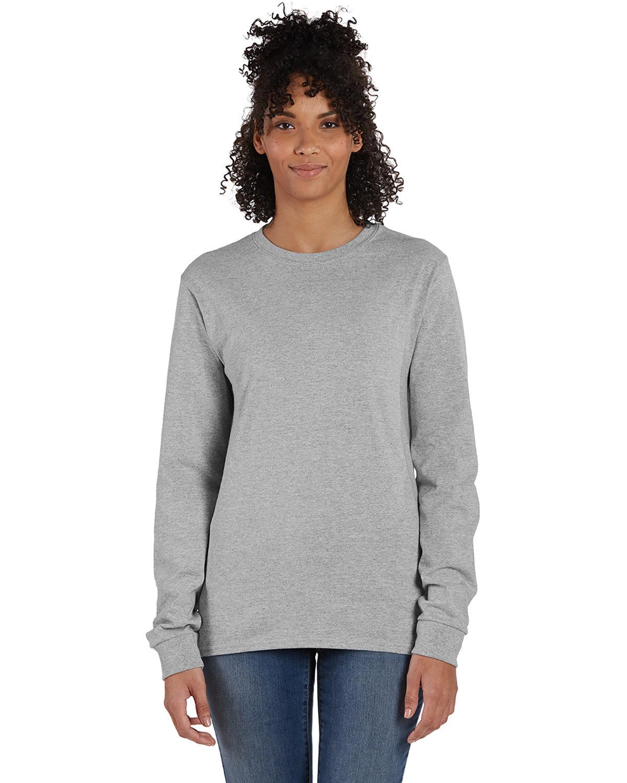 Hanes Men's ComfortSoft® Cotton Long-Sleeve T-Shirt OXFORD GRAY
