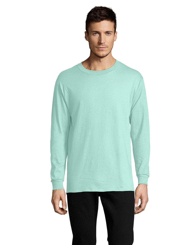 Hanes Men's ComfortSoft® Cotton Long-Sleeve T-Shirt CLEAN MINT