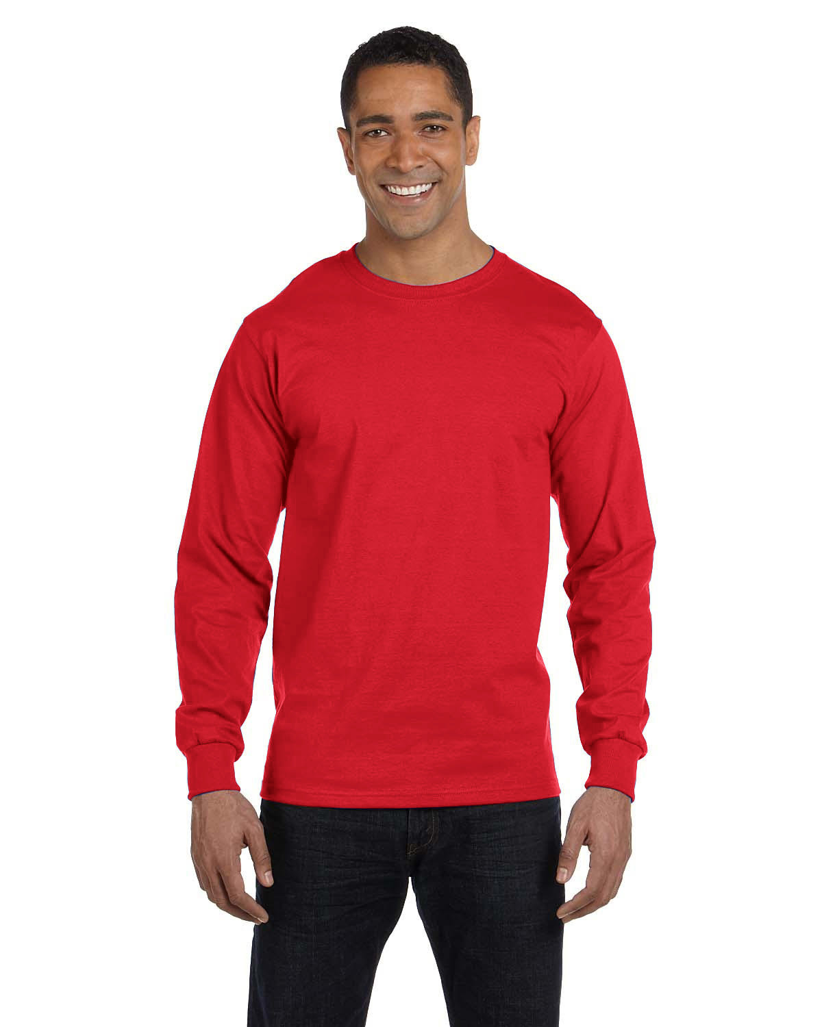 Hanes Men's ComfortSoft® Cotton Long-Sleeve T-Shirt ATHLETIC RED