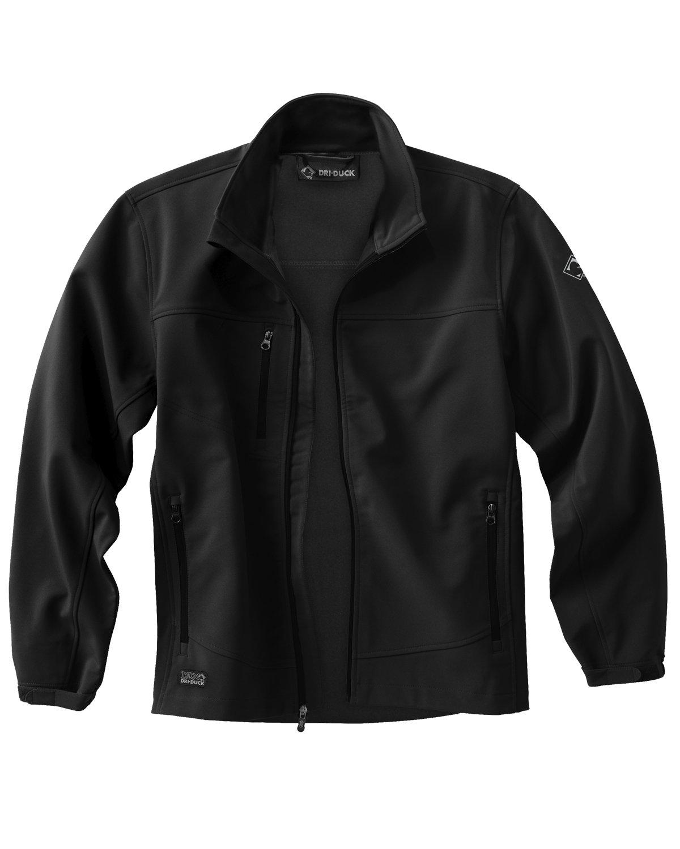 Dri Duck Men's Poly Spandex Motion Softshell Jacket BLACK