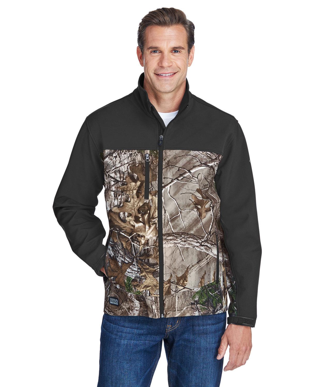 Dri Duck Men's Poly Spandex Motion Softshell Jacket REALTREE X/ CHAR