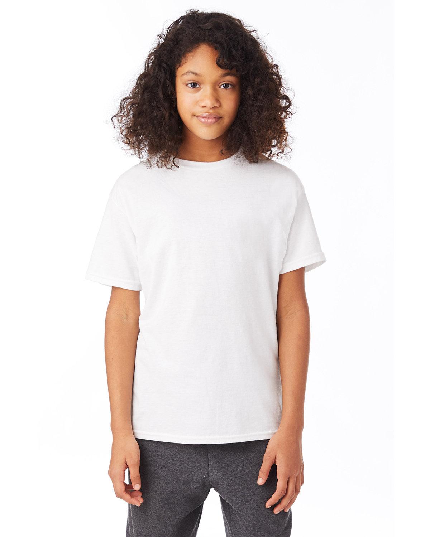 Hanes Youth 50/50 T-Shirt WHITE