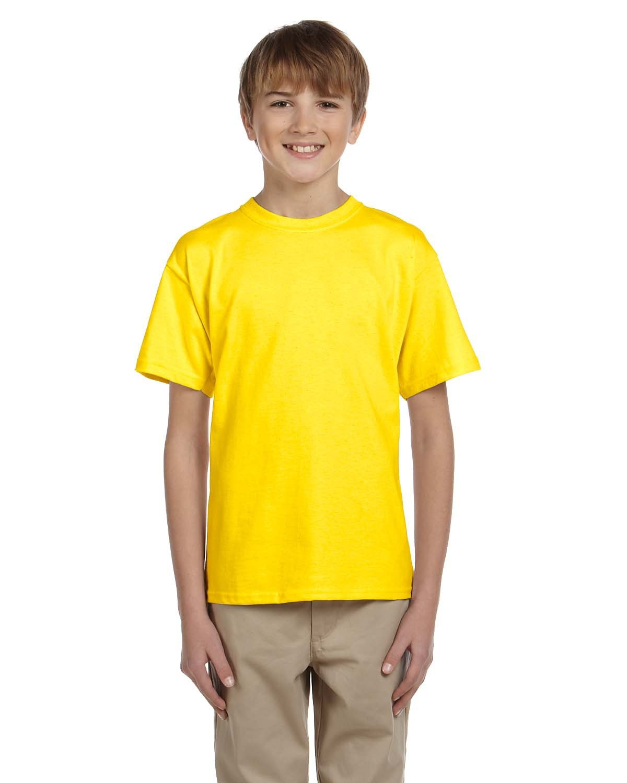 Hanes Youth 50/50 T-Shirt YELLOW
