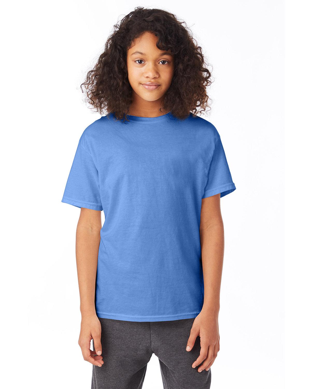 Hanes Youth 50/50 T-Shirt CAROLINA BLUE