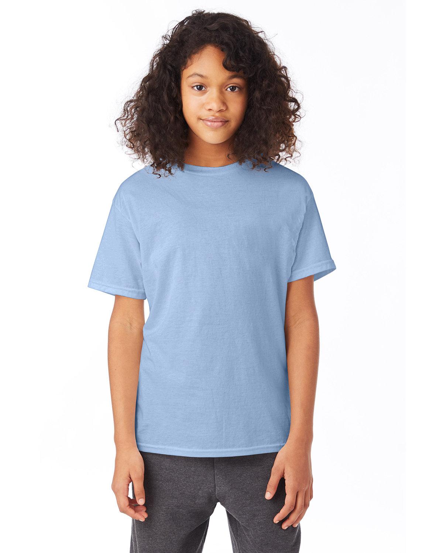 Hanes Youth 50/50 T-Shirt LIGHT BLUE
