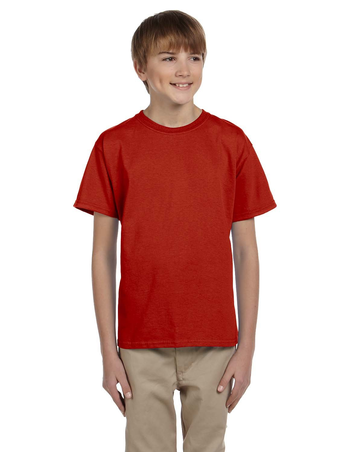 Hanes Youth 50/50 T-Shirt DEEP RED