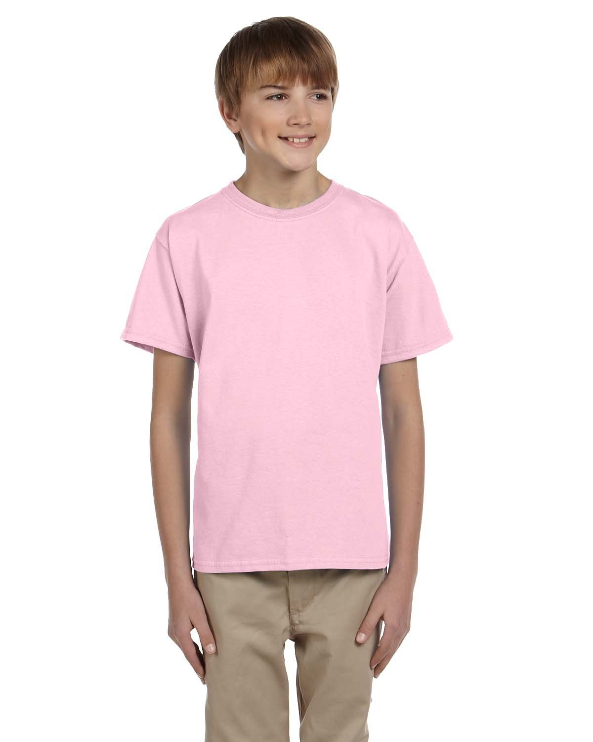 Hanes Youth 50/50 T-Shirt PALE PINK