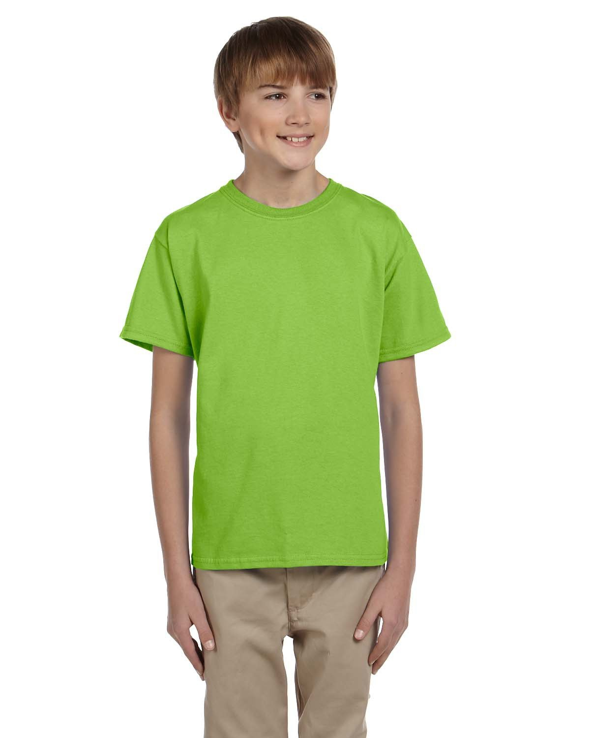Hanes Youth 50/50 T-Shirt LIME