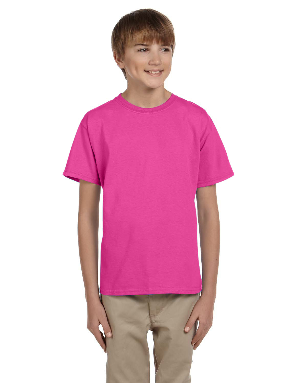 Hanes Youth 50/50 T-Shirt WOW PINK
