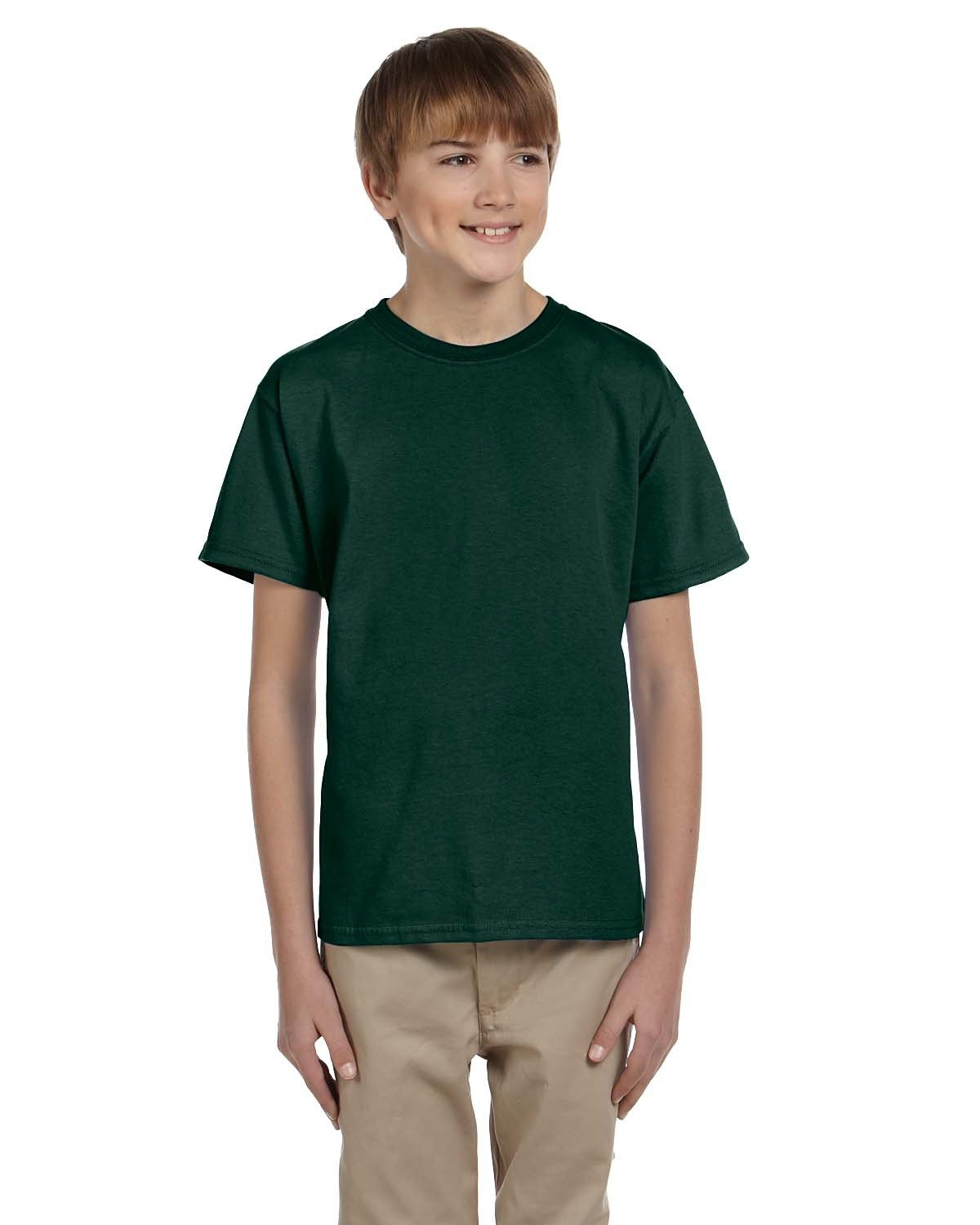 Hanes Youth 50/50 T-Shirt DEEP FOREST
