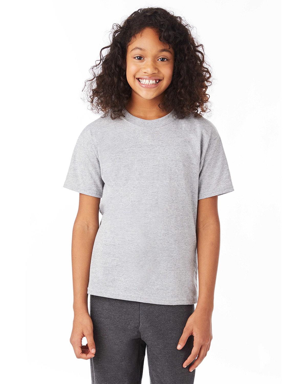 Hanes Youth 50/50 T-Shirt LIGHT STEEL
