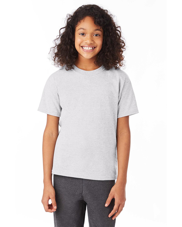 Hanes Youth 50/50 T-Shirt ASH