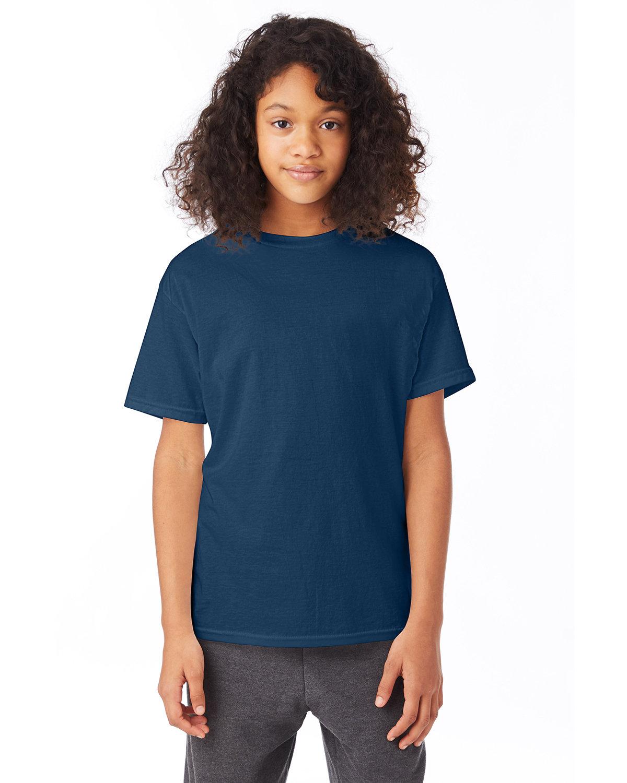Hanes Youth 50/50 T-Shirt NAVY