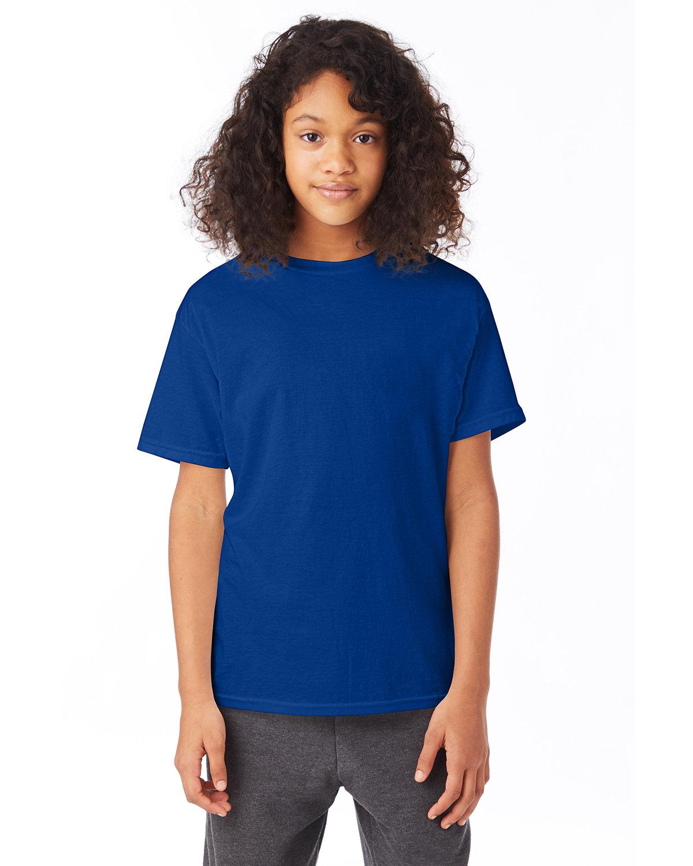 Hanes Youth 50/50 T-Shirt DEEP ROYAL