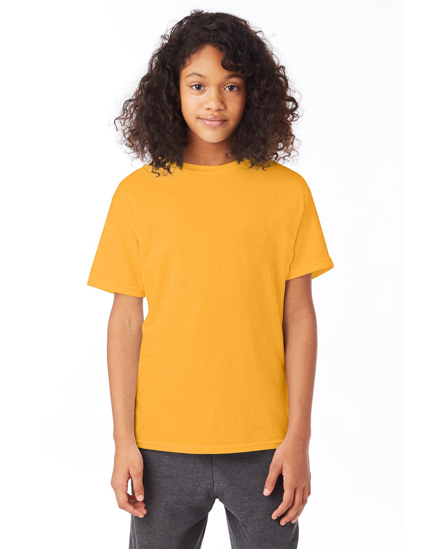 Hanes Youth 50/50 T-Shirt GOLD