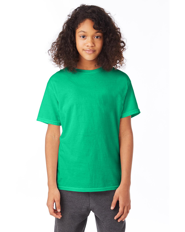Hanes Youth 50/50 T-Shirt KELLY GREEN