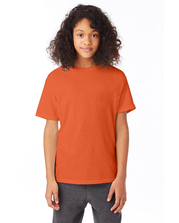 Hanes Youth 50/50 T-Shirt ORANGE