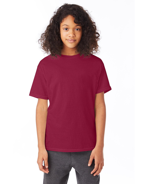 Hanes Youth 50/50 T-Shirt CARDINAL