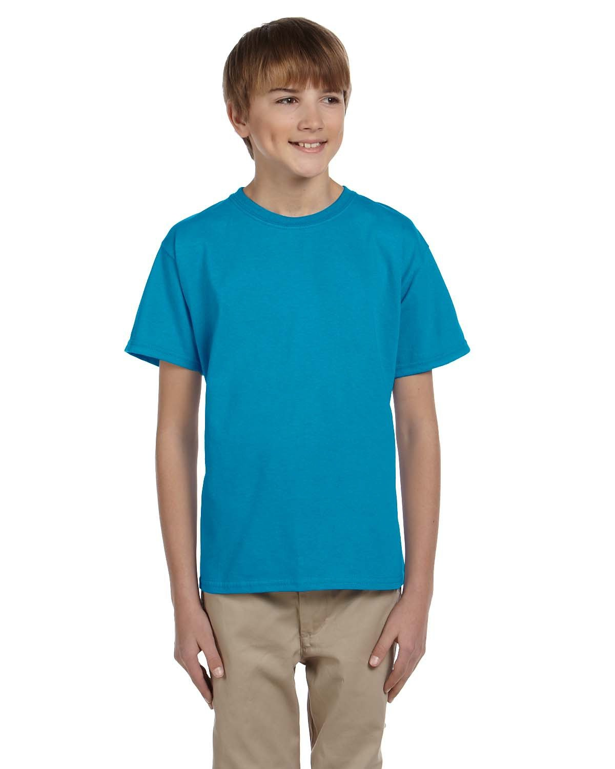 Hanes Youth 50/50 T-Shirt TEAL