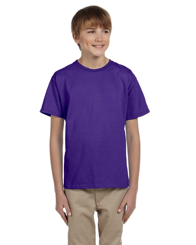 Hanes Youth 50/50 T-Shirt PURPLE